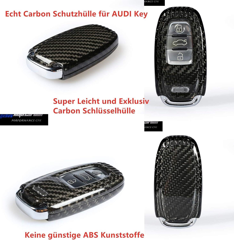 Voll Carbon Echt Carbon Schlüssel Cover Hülle Passend Für A4 A5 A6 A7 A8 Q5 Q7 S4 S5 S6 S7 S8 Rs3 Rs4 Rs5 Rs6 Sq5 Rsq3 Auto