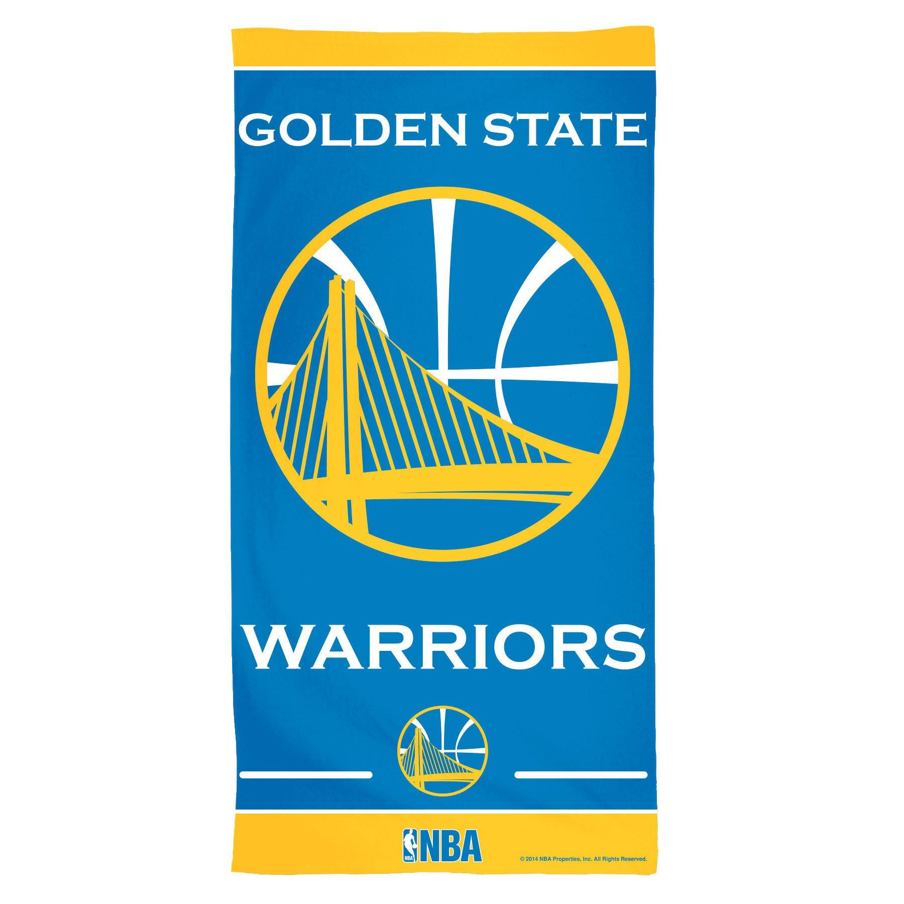 WINAV NBA Golden State Warriors Fiber Beach Towel, 30 x 60, Multicolor