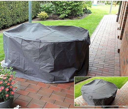 Cubierta de lona alquitranada de cubrimiento mesa de apilado muebles de jardín que cubre capota impermeable DAÑOS 504723: Amazon.es: Jardín