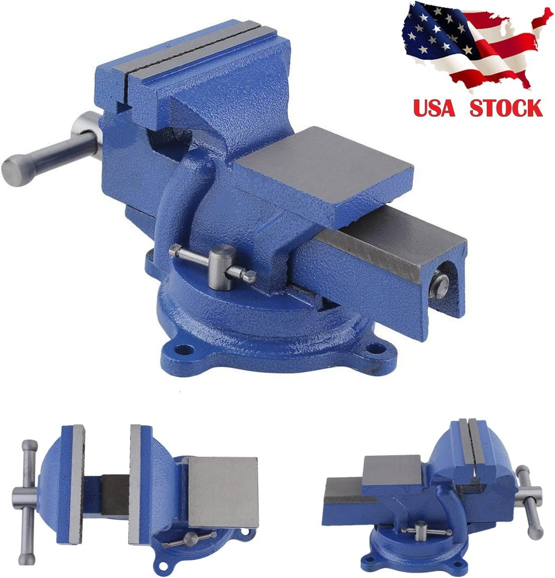 """5/"""" Non-Swivel Milling Lock Vise Bench Clamp Fix Workpieces Secure 125mm Width"""