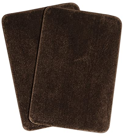 Saral Home Microfibre Anti-Skid Bath Mat (40x60 cm, Brown) Pack of 2