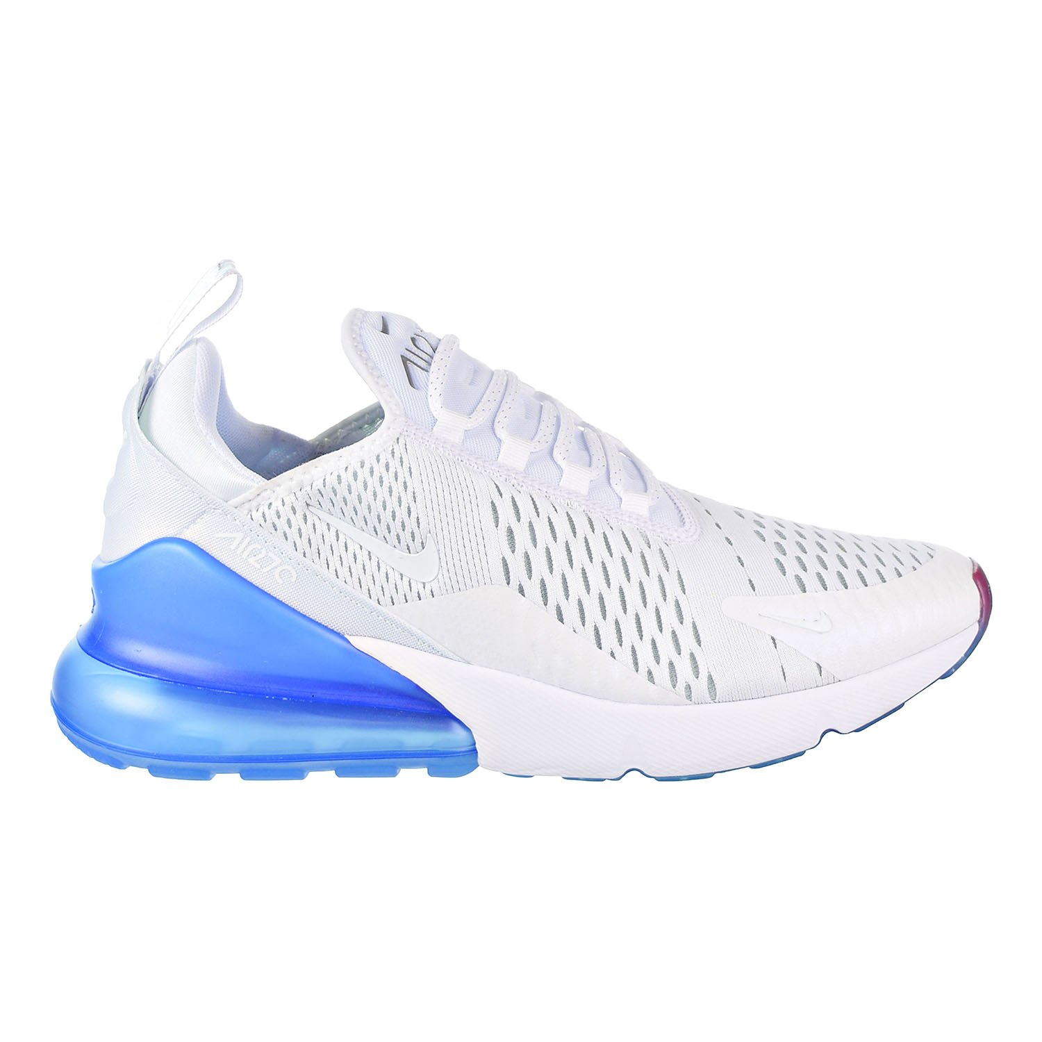los angeles cce63 879ce Galleon - NIKE Air Max 270 Men s Shoes White Metallic Silver Aq7982-100  (8.5 D(M) US)