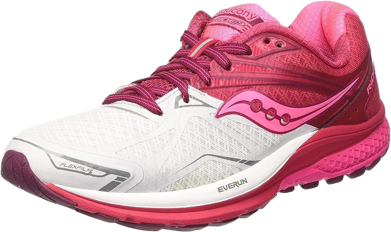 Saucony Ride 9, Zapatillas de Running para Mujer, (Rosa/Blanko/Baya Rojo), 37.5 EU: Amazon.es: Zapatos y complementos
