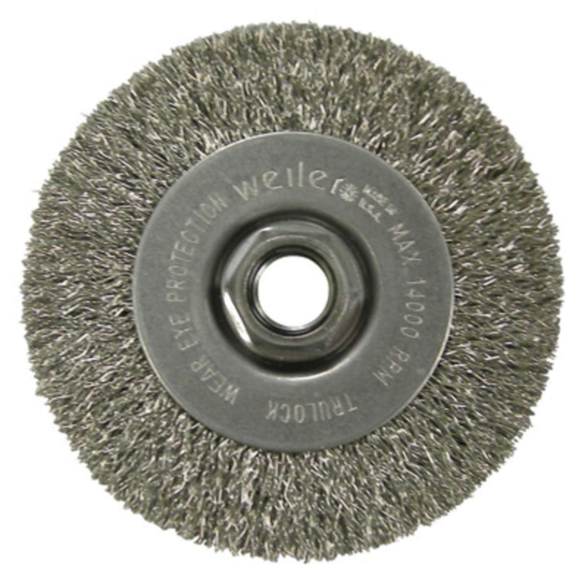 4'' Diameter - 5/8-11'' Arbor Hole - Crimped Steel Wire Straight Wheel