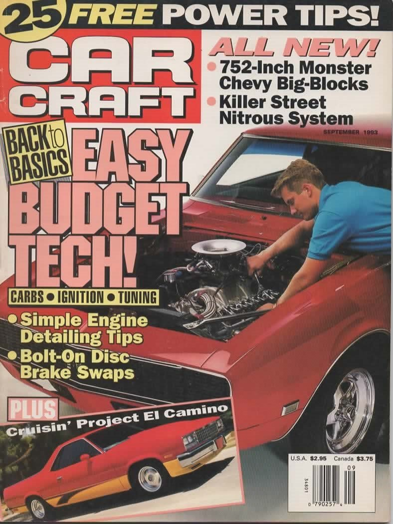 Car Craft Magazine September 1993 (ALL NEW! 752-INCH MONSTER CHEVY