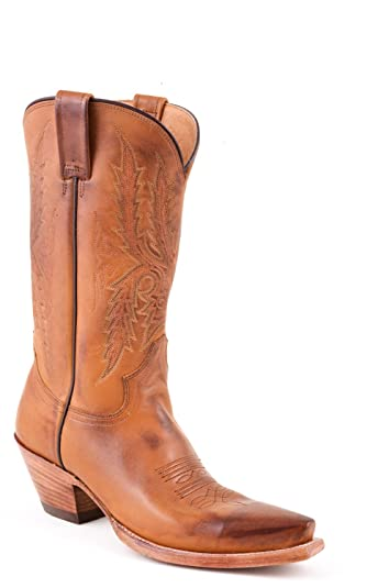 d53c120bb79 Amazon.com | Stetson Womens 11in Handmade Brown Antique Leather ...