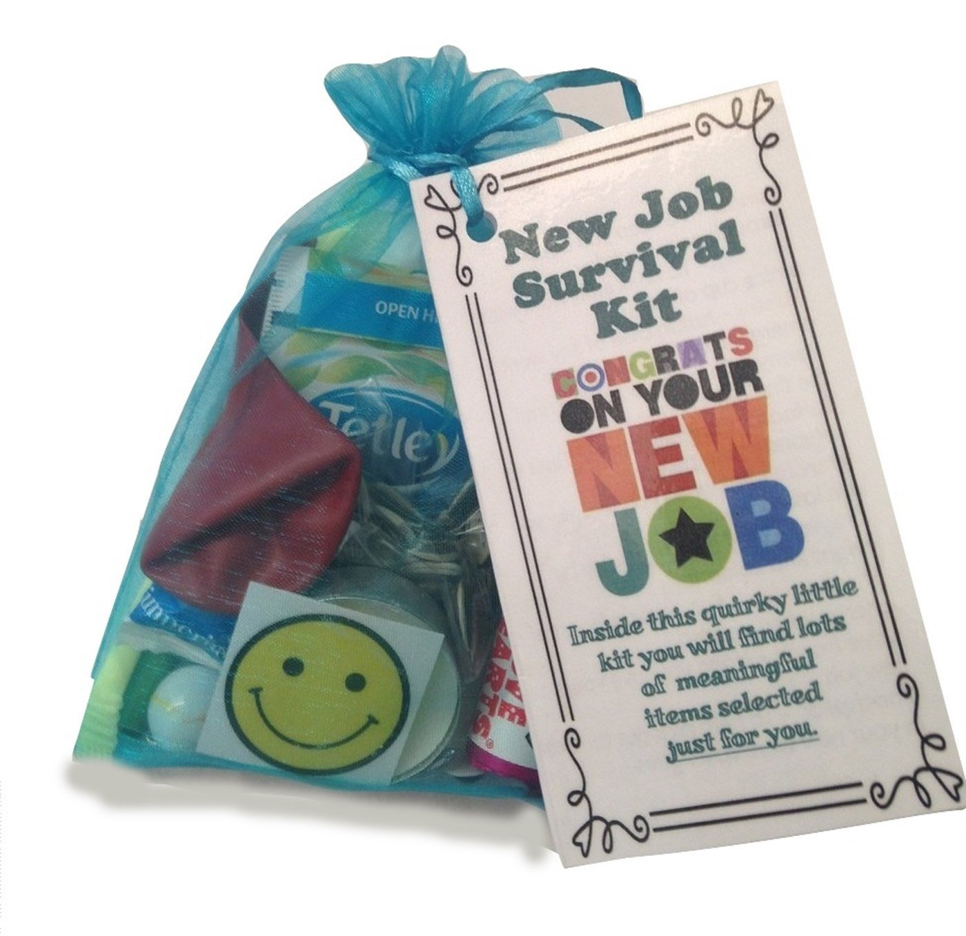 New Job Survival Kit Gift (Great novelty gift or alternative to a ...