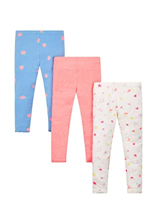 77f43dade69357 Mothercare Girl's 3 Pack Leggings, Multicoloured (Brights Multi), 2-3 Years