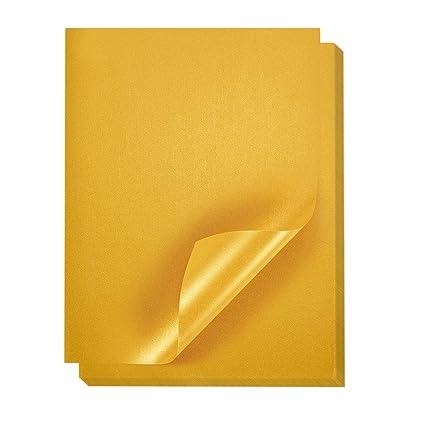 48 unidades, papel de color oro metálico Shimmer papel ...