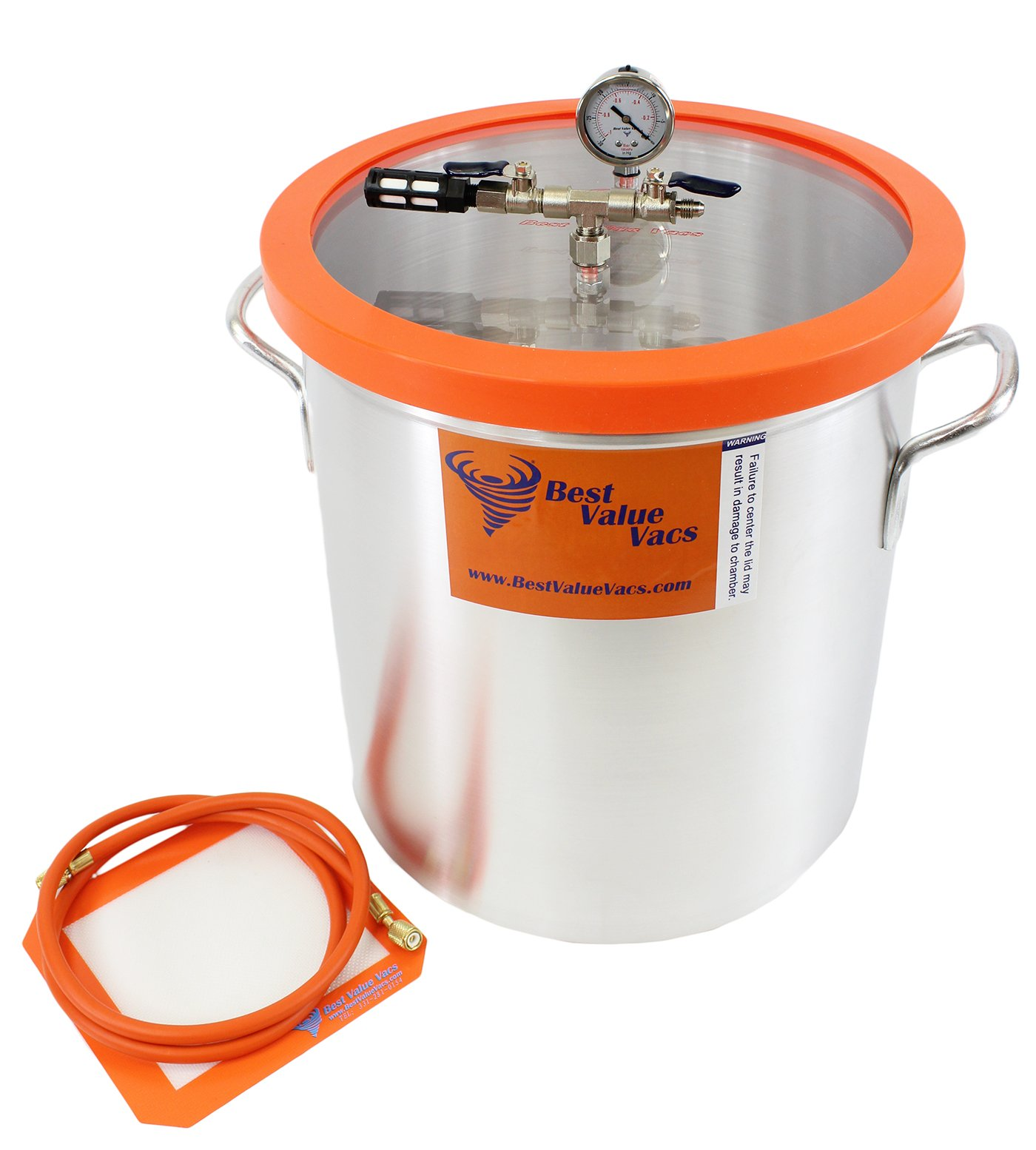 Best Value Vacs Brand Vacuum Chamber- 10 Gallon Vacuum & Degassing Chamber