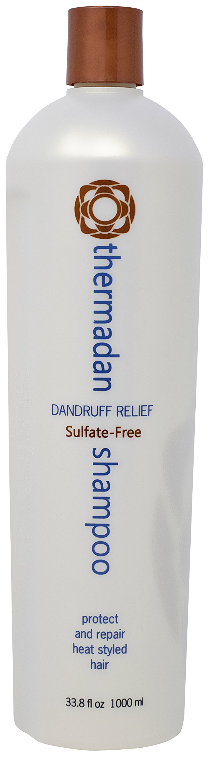 Thermafuse Thermadan Dandruff Shampoo 33.8 oz FDA Approved Anti Dandruff, Anti Flakey Scalp, Anti Scalp Itch Dandruff Treatment Shampoo, Sulfate Free & Tea Tree Oil - Daily Use for Women & Men by Thermafuse