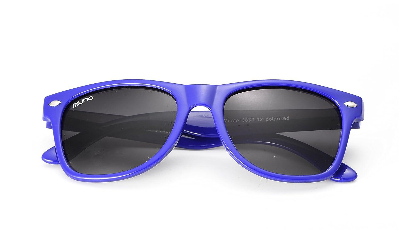 Miuno® Kinder Sonnenbrille Wayfare für Jungen und Mädchen Etui 2688 (Rot) zIoODbWx