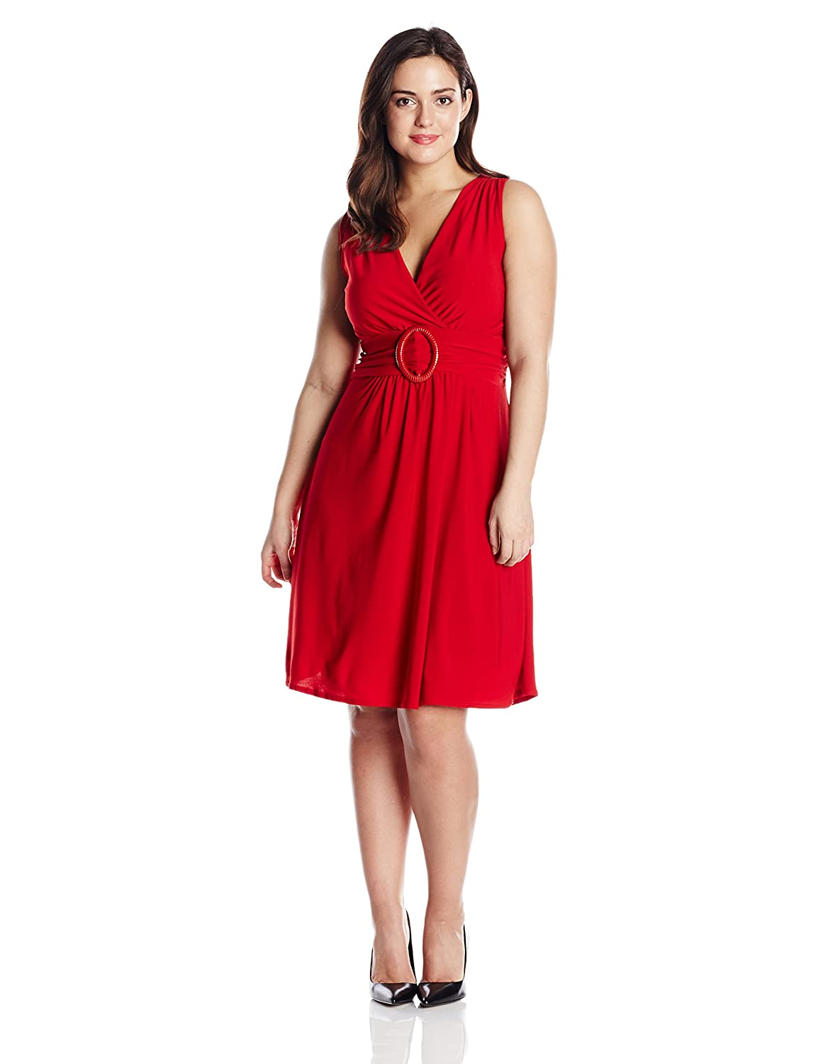Star Vixen Women's Plus-Size Sleeveless O-Ring Dress Star Vixen Child Code 1350-ITX