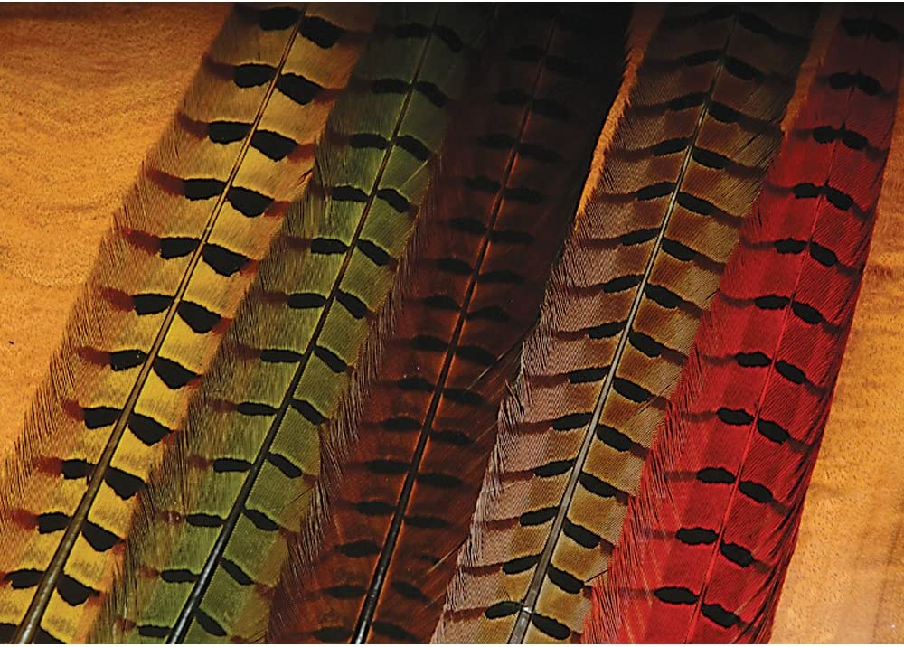 Hareline Ringneck Pheasant Tail Feathers Assorted Colors Fly Tying
