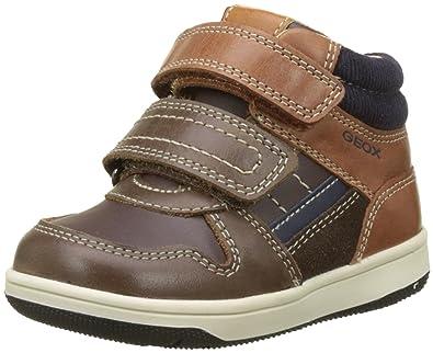 d2f9740ff763d Geox Boys' New Flick 1 Sneaker, Coffee/Cognac, 20 M EU Infant