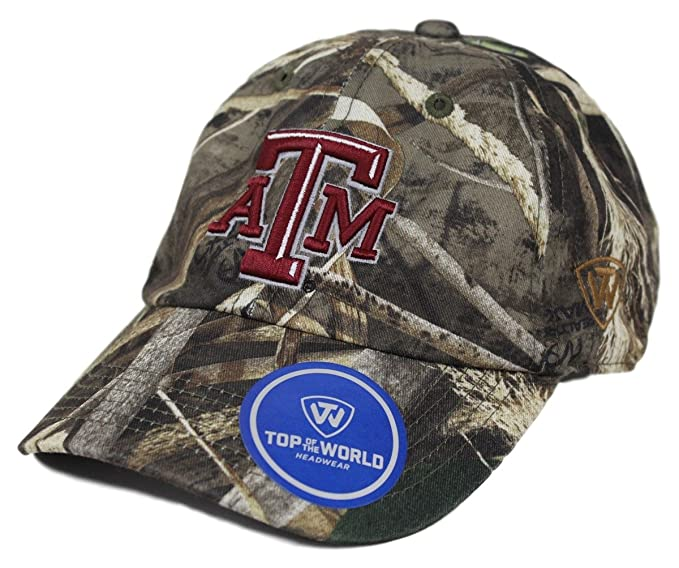 new product 9b9c2 358fe Image Unavailable. Image not available for. Color  Texas A M Aggies NCAA  TOW  quot Crew Max quot  RealTree Camo Adjustable Hat