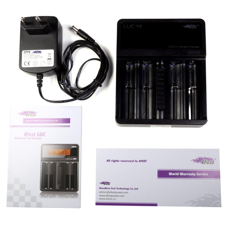 Efest LUC V4 Ladegerät für Lithium-Ionen-Akkus für e-Zigarette ...