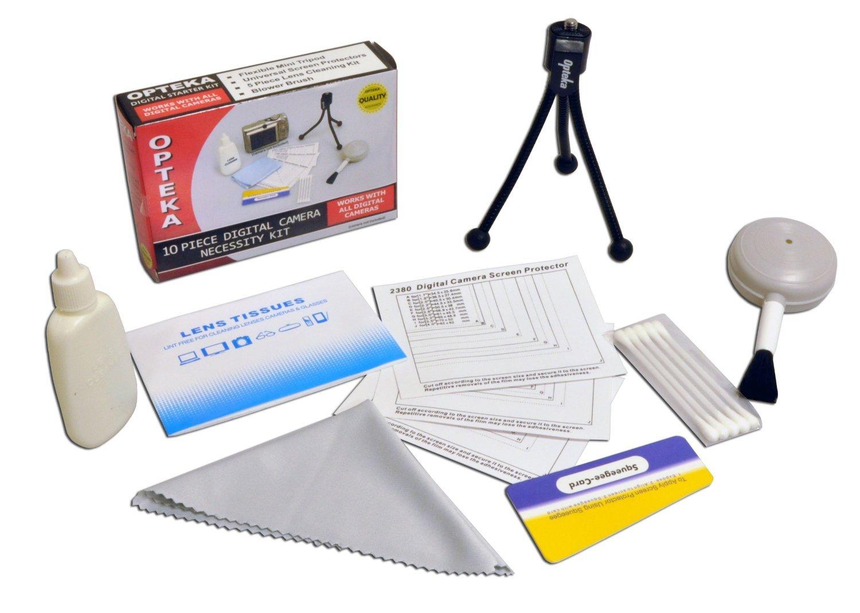 Opteka Deluxe Vortex Skaters Package (Includes The Opteka Platinum Series 37mm 0.2X HD Panoramic Vortex Fisheye Lens, X-Grip Camcorder Handle, 3 Watt Video Light) for Digital & Video Cameras by Opteka