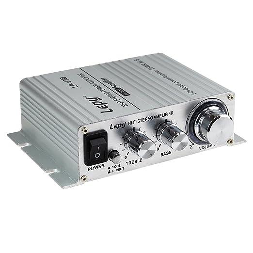 100 opinioni per Lepy LP-V3s piccolo amplificatore HIFI per auto,PC, casa ,iphone+ Alimentatore
