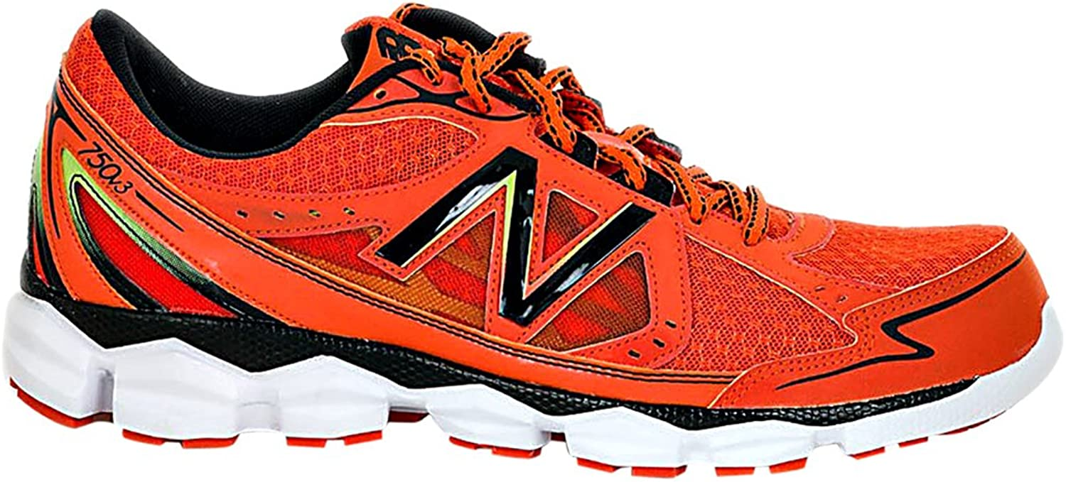 New Balance Mens Mr750ob3 2E Red Running Shoes In Size 41.5 Orange: Amazon.es: Zapatos y complementos
