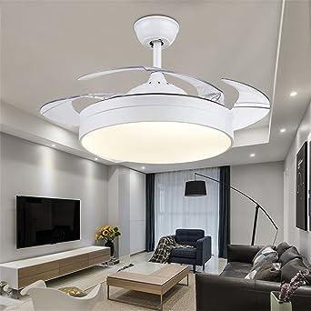 MMYNL Invisible simple ventilador ventilador de techo con lámpara ...