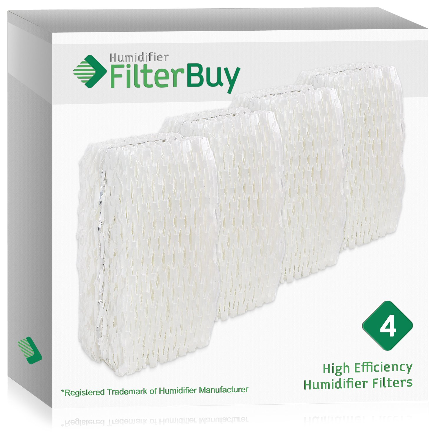 4 - FilterBuy WF813 ReliOn, AC-813 Duracraft , ACR-832 Robitussin Humidifier Wick Replacement Filters. Designed by FilterBuy to fit ReliOn RCM832 (RCM-832) RCM-832N, DH-832 and DH-830 Humidifers.