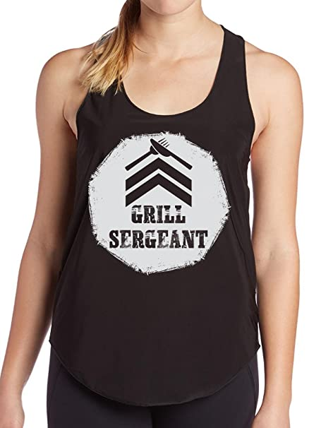 The Grill Sergeant Funny T Shirt Gift For Chef Cook Veterans Birthday Womens Tank