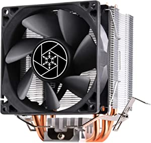 SilverStone Technology 125mm Tall CPU Heatsink for Intel Socket LGA115X/1366/2011/2066 & AMD Socket AM2/AM3/AM4/FM1/FM2 KR02