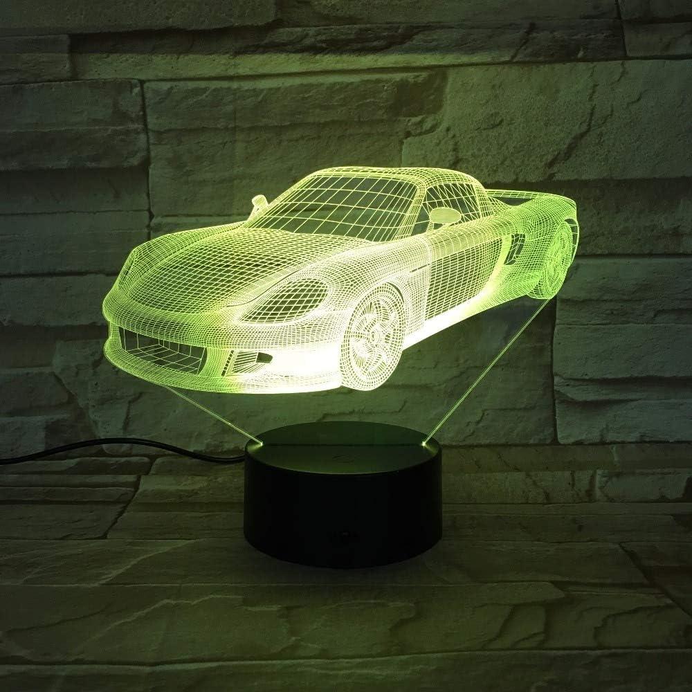 Visión en Color lámpara de Modelado de Coche de Carreras luz Nocturna Regalo para niños Interruptor táctil lámpara de Mesa iluminación para Dormir
