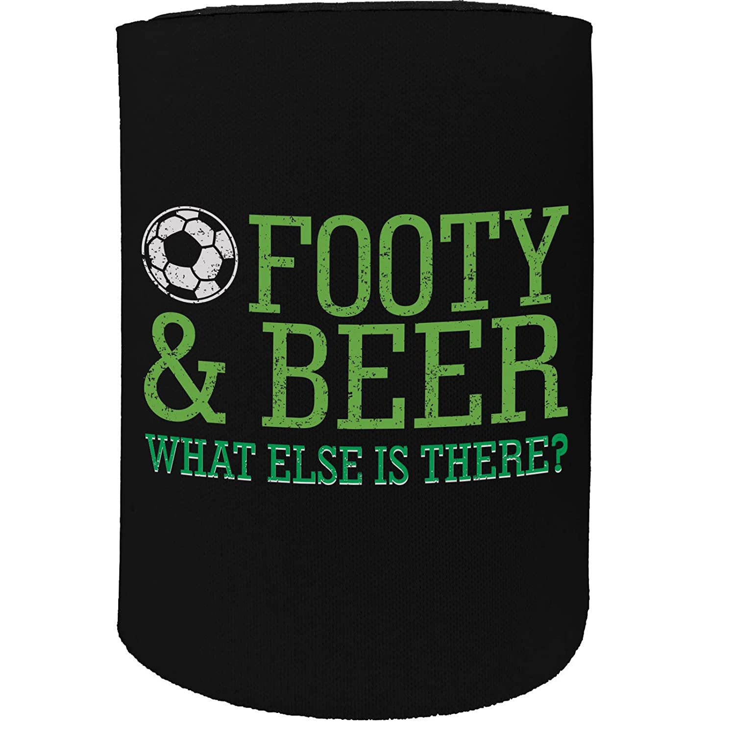 123t Stubby Holder - Footy Beer Football Soccer - Funny Novelty Birthday Gift Joke Beer Can Bottle Coolie Koozie Stubbie