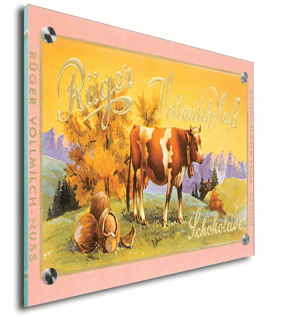 Amazon.com: Riiger Chocolate Vintage Poster Acrylic Print Wall Decor ...
