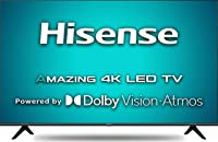 Hisense 108 cm (43 inches) 4K Ultra HD Smart Certified Android LED TV 43A71F (Black) (2020 Model) | with Dolby Vision and Atmos Roll over image to zoom in Hisense 108 cm (43 inches) 4K Ultra HD Smart Certified Android LED TV 43A71F (Black) (2020 Model)