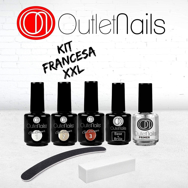 PACK Francesa Esmaltado Permanente/Pack Esmaltes Permanentes para francesa/French XXL white and primer/: Amazon.es: Belleza