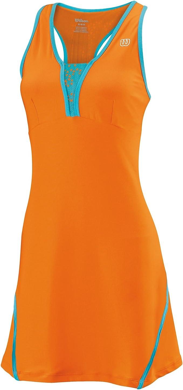 Wilson - Vestido de pádel para Mujer, tamaño L, Color Naranja ...
