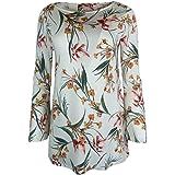 Marks and Spencer EX M&S Floral Print Slash Neck Top/Blouse