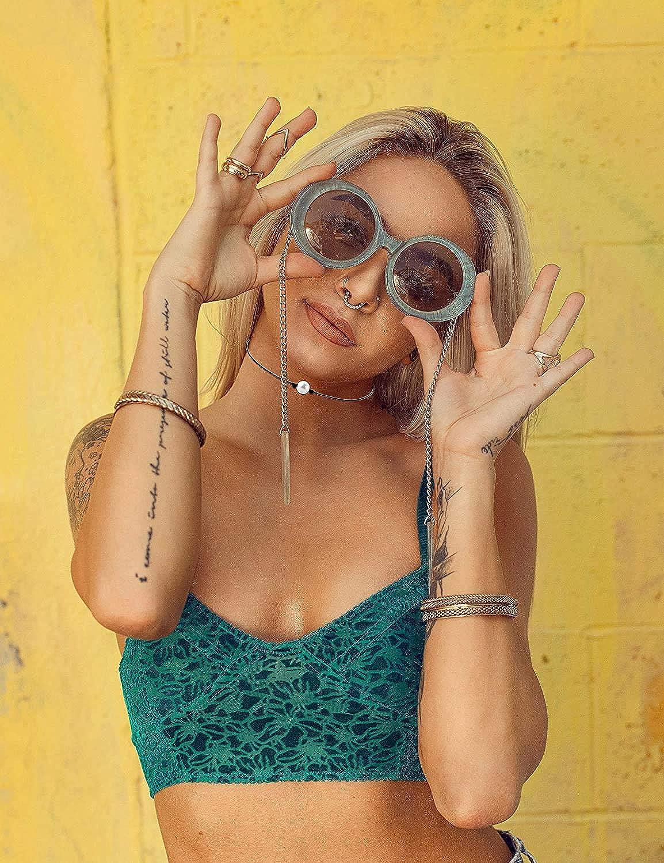 CASSIECA 6 Pcs Coquille Colliers pour Femmes Filles Clavicule Collier /À La Main Hawa/ï Perles Colliers Cauris Conque Boh/ème Collier D/ét/é Ras du Cou Plage Bijoux Ensemble