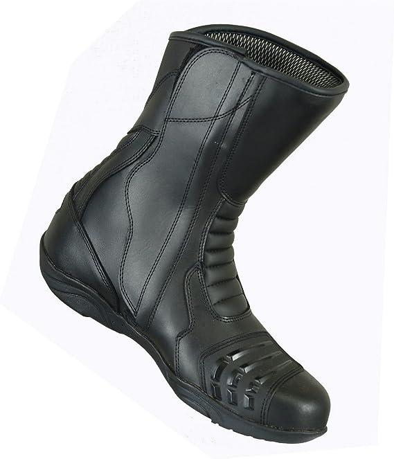 con caviglia alta impermeabili in vera pelle adatti per sport e corse in moto stivali da moto da uomo corazzati con suola in gomma antiscivolo Mr.Pro