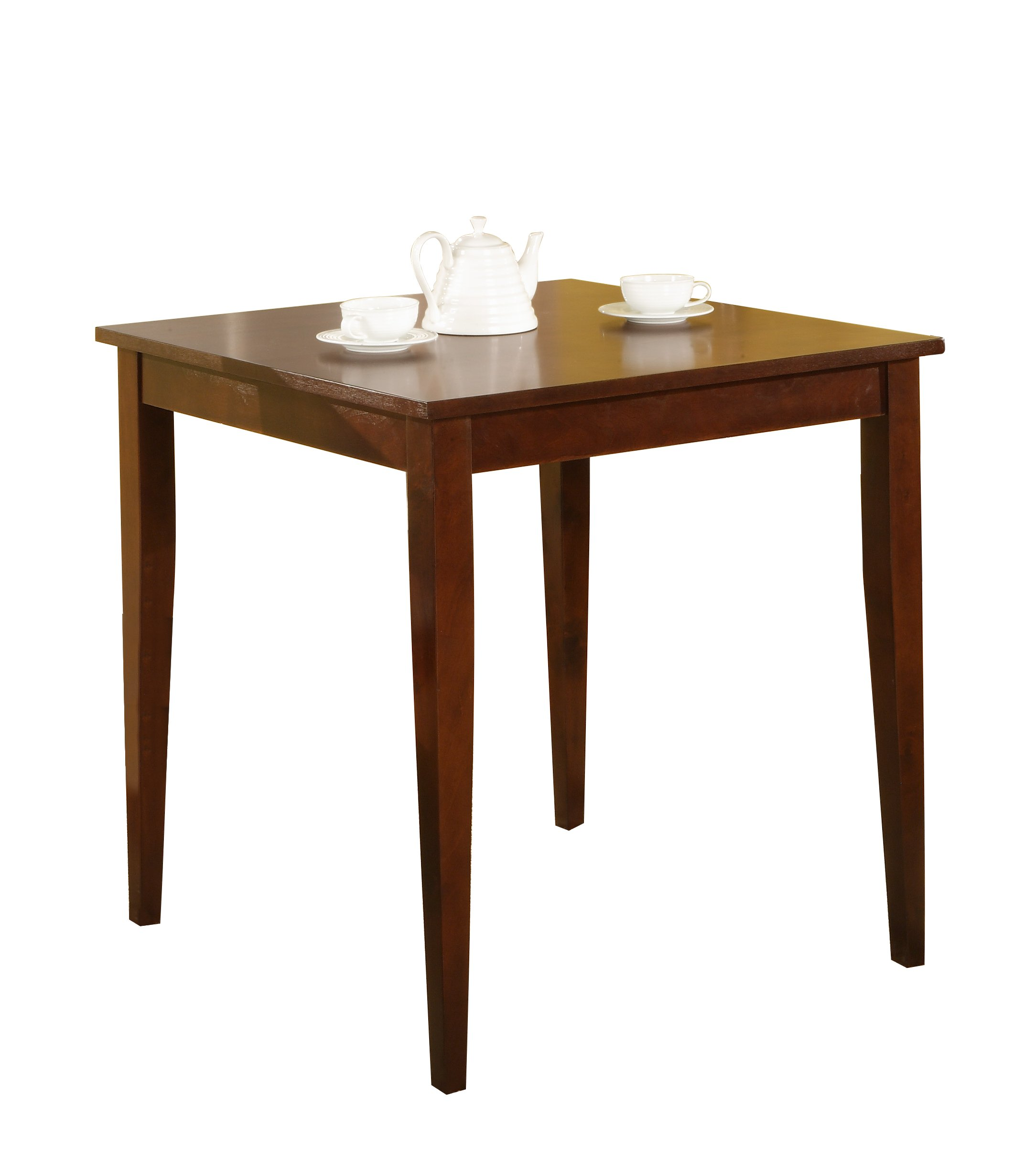 Pilaster Designs - 30'' Square Cherry Finish Solid Wood Dining Room Kitchen Leg Table