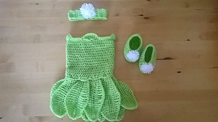 Crochet Tinkerbell Outfit Baby Girl Costume Tinkerbell Baby Shower