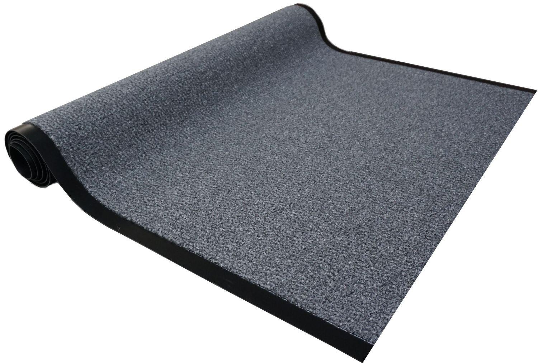 Granat Läufer Col. 40 grau Schmutzfangläufer Meterware 120 cm breit nach Maß Teppich Brücke Flur in vielen Längen und Breiten lieferbar rutschfest hohe Schmutzaufnahme saugfähig und Fußbodenheizung geeignet