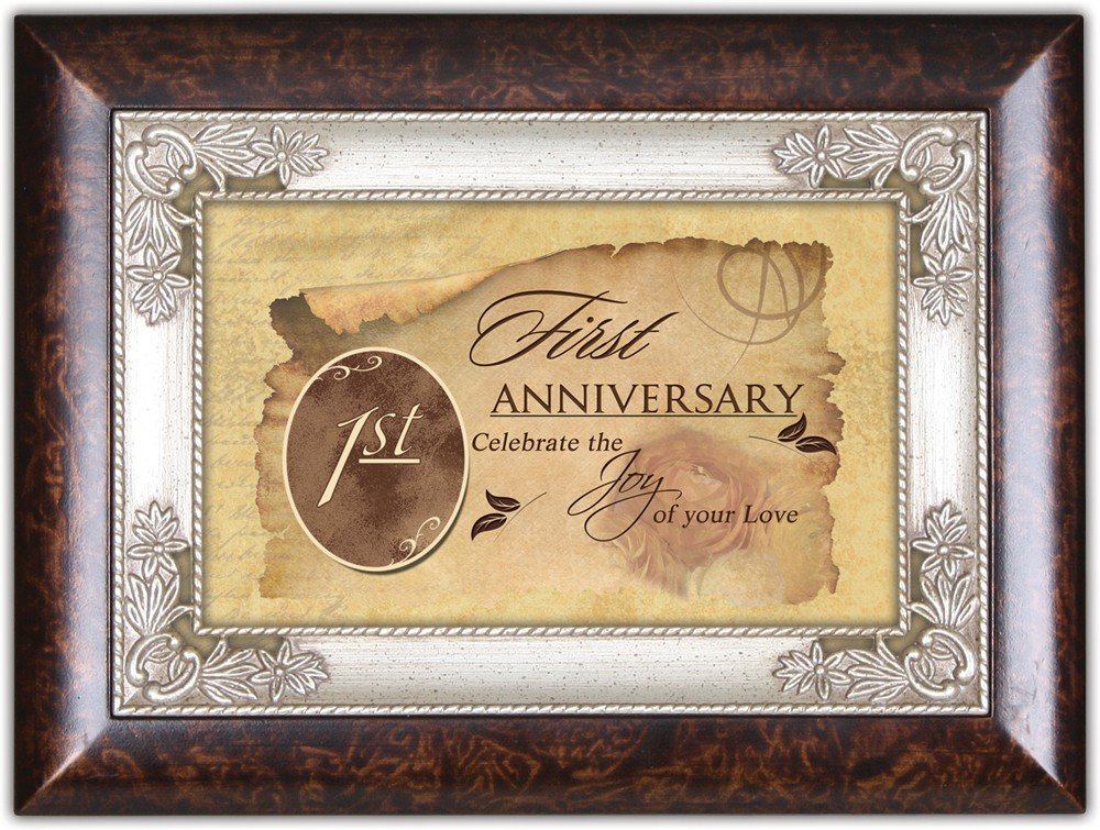 First Anniversary Cottage Garden Italian Inspired Music Box Plays Unchained Melody by Cottage Garden
