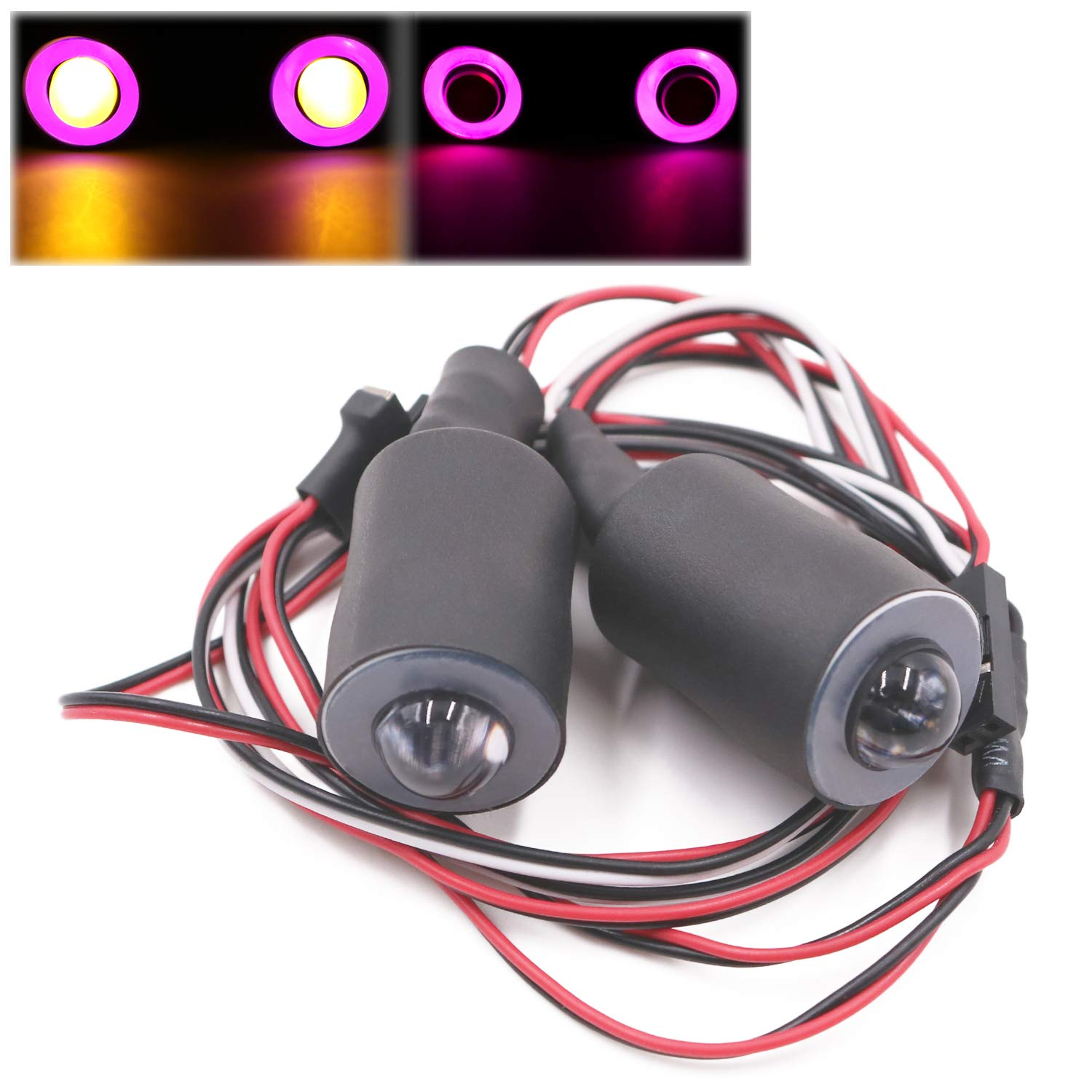 Kalevel RC LED Lights Headlight and Taillights Model Car Prewired LED Lights 2 LED Halo RC Truck Light Kit Accessories 1//10 Lights 10mm 13mm 17mm 22mm for RC Model Crawler Cars Trucks Red White