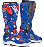 Sidi Crossfire 3 SRS Offroad Boots White Blue Red (EU 45 / US 11)