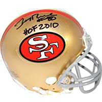 $149 » Jerry Rice San Francisco 49ers Signed Autograph Mini Helmet HOF 2010 INSCRIBED Steiner Sports Certified