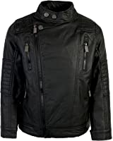 Urban Republic Boy's Faux Leather Motorcycle Biker Jacket
