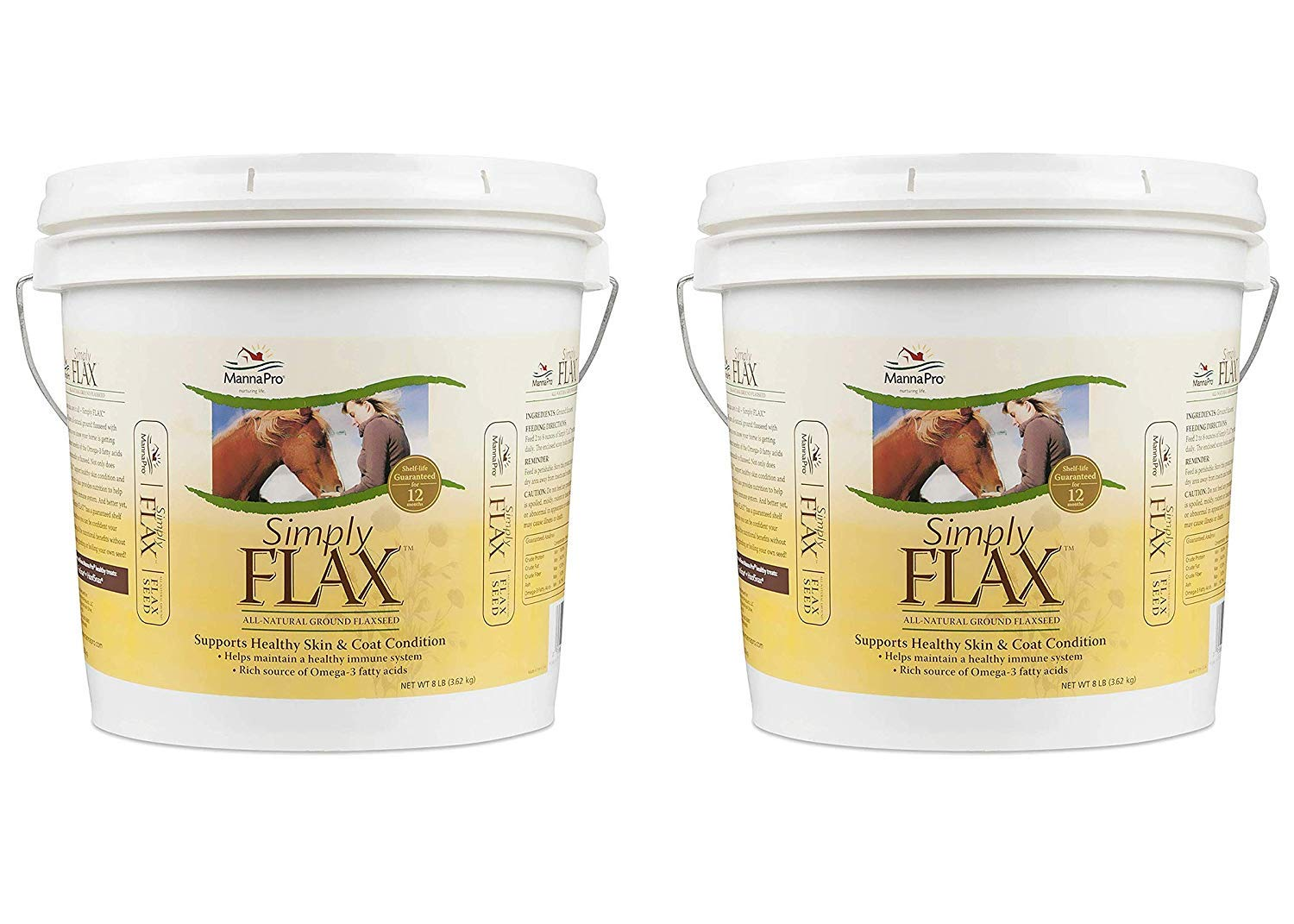 Manna Pro Simply Flax for Horses, 8 Pounds (Pack of 2)