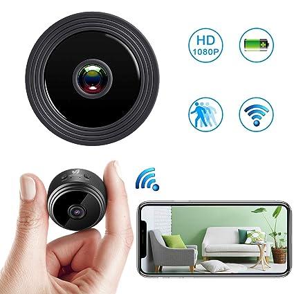 Mini Camara Espia Oculta WiFi Camara espias 1080P HD Videocámara Vigilancia Portátil Secreta Compacta con Detector Movimiento IR Visión Nocturna ...