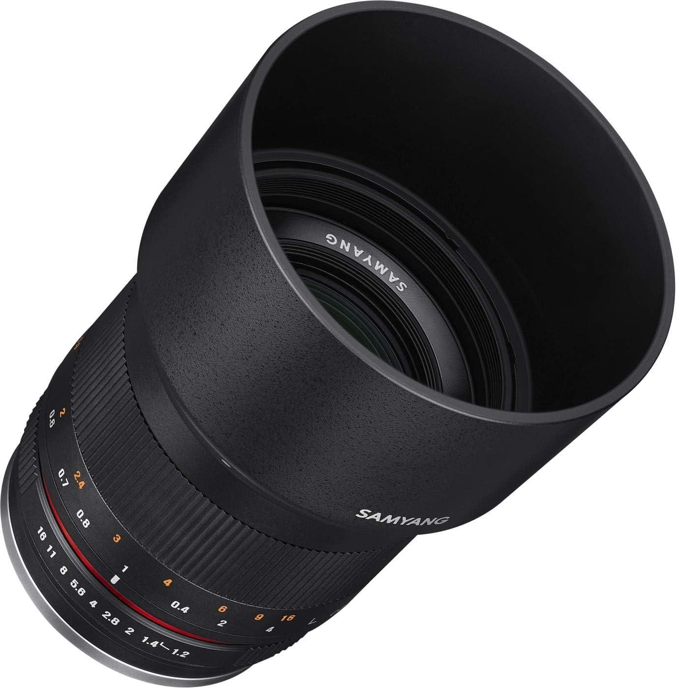 Samyang Mf 50mm F1 2 Aps C Canon M Schwarz Manuelles Kamera