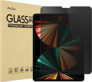 ProCase iPad Pro 12.9 Inch Privacy Screen Protector 2021 2020 2018, Anti-Spy Anti-Glare Anti-Fingerprints Tempered Glass Screen Film Guard for Apple iPad Pro 12.9