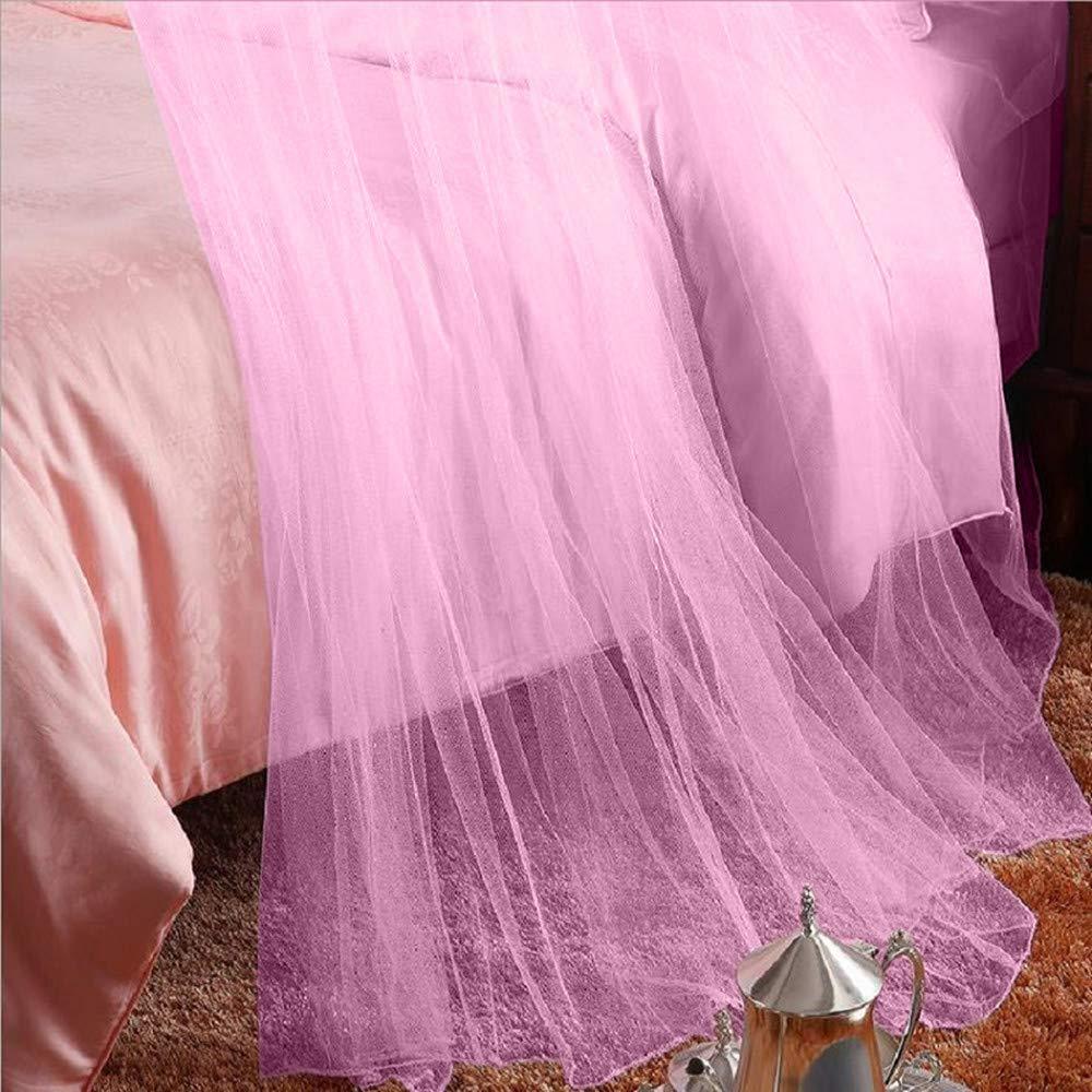 rose Unimall Moustiquaire Ciel de Lit Pour Lit Double Un R/épulsif Grande D/écoration Pour Les Insectes Contre Le Paludisme et Zika Irritation de la peau non